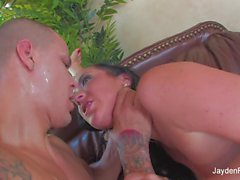 Threesome action with Jayden, Sarah, and Justice