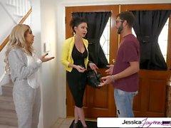 Jessica Jaymes y Aaliyah Hadid follando una gran polla, gran botín