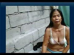 55yr vanha Filipina Granny saa alasti Cam