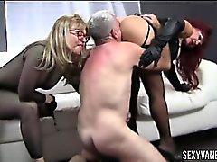 Nina Hartley, Sexy Vanessa et Jay Crew Hot Ass Licking