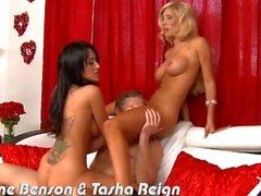 Tetona Breanne Benson y Tasha Reign se la follan