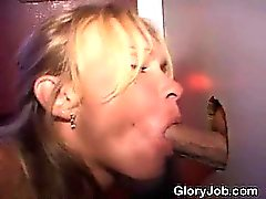 Mature Blonde Milking Cock Dry Through A Glory Hole
