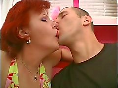 Redhead MILF gets nipples and pussy eaten