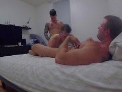 Homemade Bareback Muscle Threesome