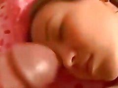 De dormir Ejaculação facial