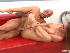 Sticky foot fetish fun and fucking with Rachel Roxxx