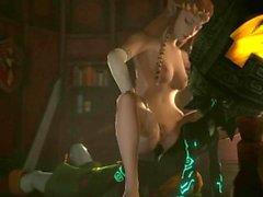 Redmoa - Imp Midna Fucks Princess Zelda - Part 2