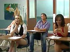 Kagney quer experimentar galo espesso italiano, professor tony bangs ela na mesa!