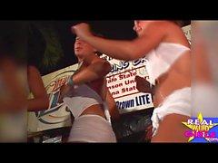Desnudo coño mojado concurso Key West Spring Break Pt1