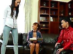 Lesbiana fiesta de bienvenida dorada