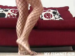 Cover my sexy fishnets with your cum JOI