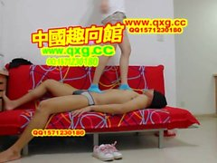 Chinese goddes blue sock trample