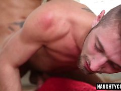 Big dick gay spanking with facial