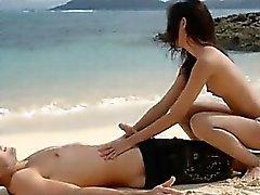 Erityisen kuumaa lovers hellä rannalla oleva