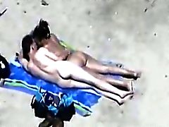 Interracial Couple At The Beach