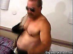 Lihaksikas ja Gay karhu masturboi Yhdenmukainen