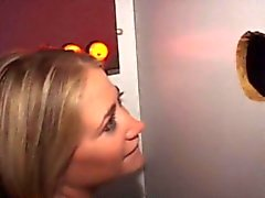 Dirty Blonde Dick Sucking Amateur At A Glory Hole