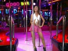 Little teen gogo dancer auditions for job on her knees