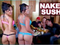 BANGBROS - Naken Sushi Med Asiatisk Porrstjärnan Asa Akira och Tasha Lynn