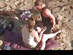 Estrangeiro - Cam escondida casal, duas lésbicas sexo na praia