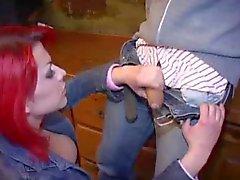Redhead teen shemale