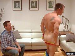 big dick Homosexuell rimjob mit abspritzen Clip Film 1