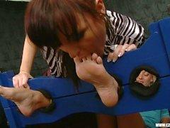 Cócegas-Submission Sandra adorado pés de Jana Cova