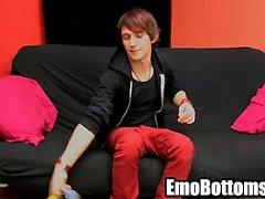 De Emo jovencito Andrés a Kay se tira de su polla dura de roca