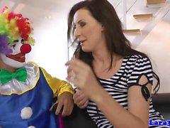 Britische Glam-reifen cocksucking glücklich Clown