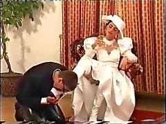 vestido de novia del champán