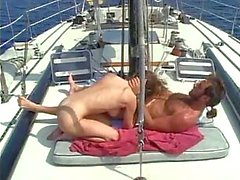 Outdoor fucking on yacht
