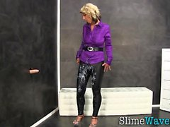 Kinky slut slime covered