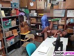 Ebony Teen Thief Daya Has Huge Tits