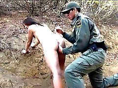 Mexican agente polizia di confine scopare Amateur hottie bruna