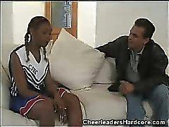 Ébène Cheerleader interraciale de Films