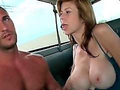 Muscled dude smashing tight gay ass in bus