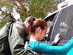 Enkel mexikanska tonåring barbariskt knullas för passage av gräns