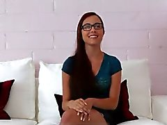 Cute Teen with Glasses Interviewed and Fucked