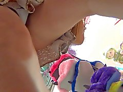 Upskirt Voyeur Young Mom Lace thong