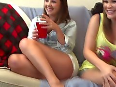 Real teen party flashing