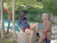 Sex in the garden with lovely cougar Lake Russell