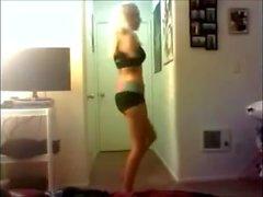 Sexy Amputee arm girl dance