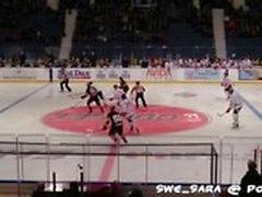 Follando en público - En el juego de hockey