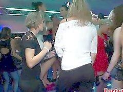 Euro amateur rimming nena en la pista de baile