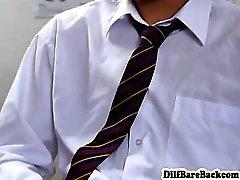 Insegnante di DILF facializes allievo dopo i corsi