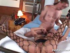 Asian MILF Ava Devine gagging on cock