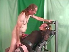 Blonde tranny used by horny male with big cock