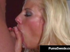 Suédois Busty Blonde Puma Swede Le Major HardCore Fucking!