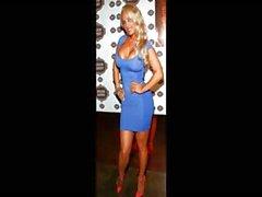 Blonde красотка Николь Кокос Аустин слайд-шоу горячего картин