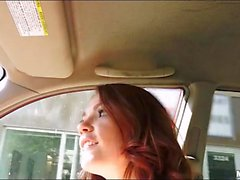 Redhead teenie pounded by hard schlong